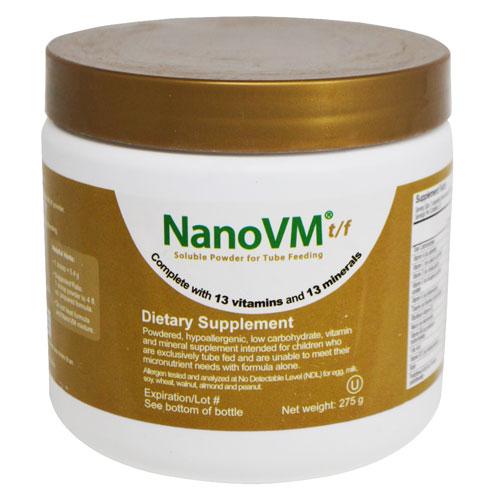NanoVM t/f Soluble Powder for Tube Feeding, Dietary Supplement for Children, Vitamins and Minerals, Powder, Net Weight 275g